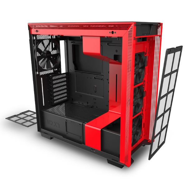 NZXT H710 Matte Black / Red Mid Tower Case